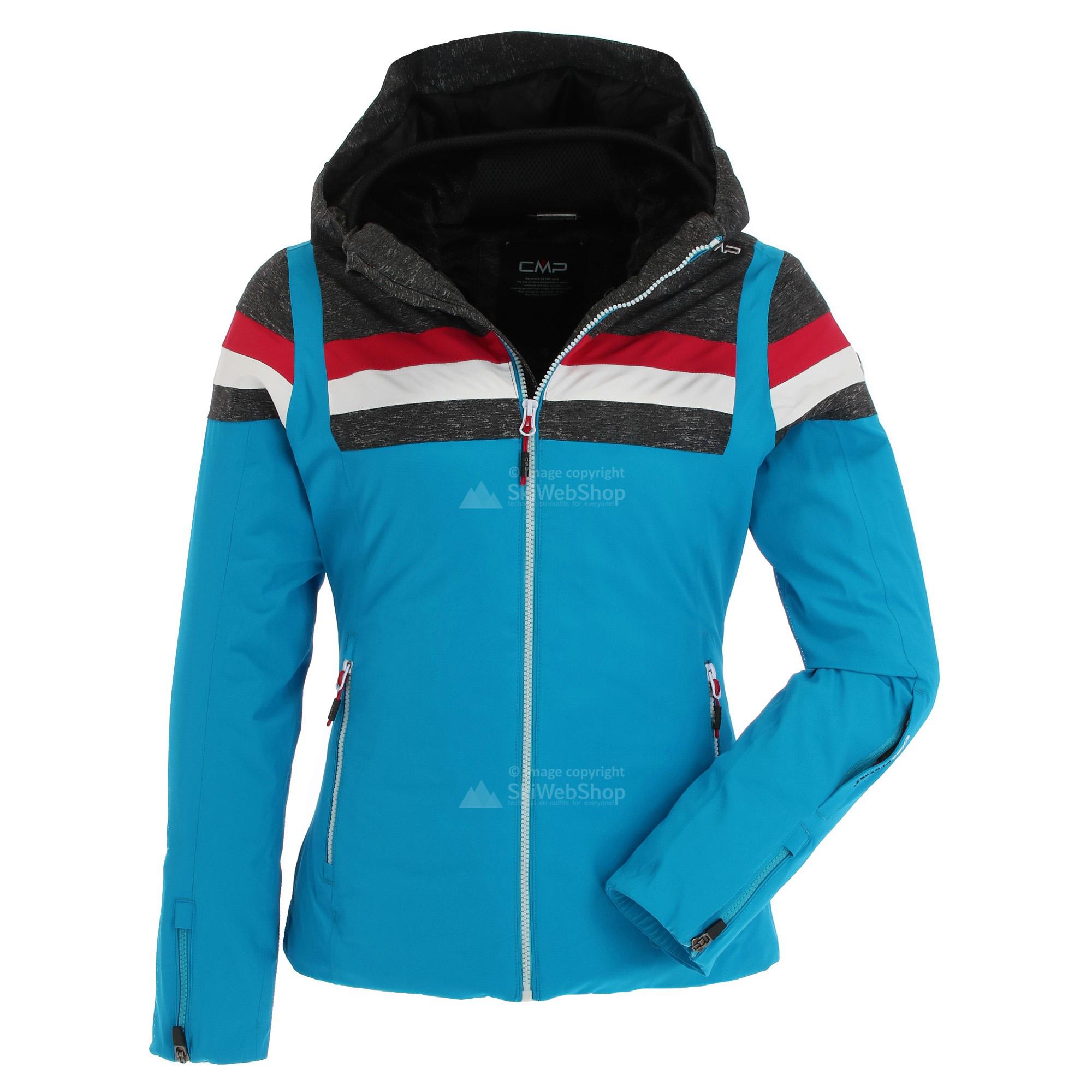 CMP, giacca sci, donna, biancogrigiorosso granita