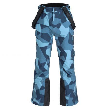 4F, H4Z20-SPMN004 pantaloni da sci uomo camouflage blu