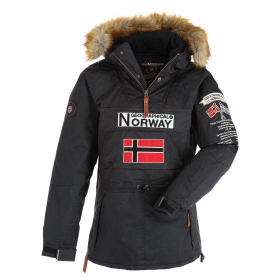 Geographical Norway, Bridget Lady  New 068 anorak donna nero