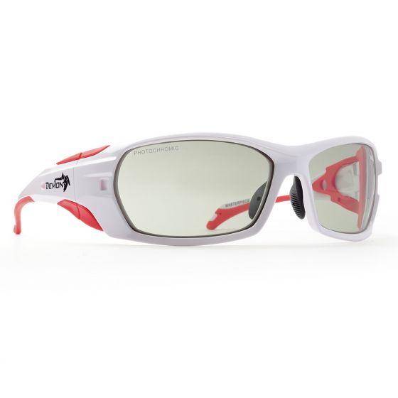 Demon, Makalu, occhiali da sole sportivi fotocromatici, bianco