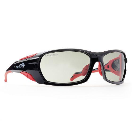 Demon, Makalu, occhiali da sole sportivi fotocromatici, nero-grigio
