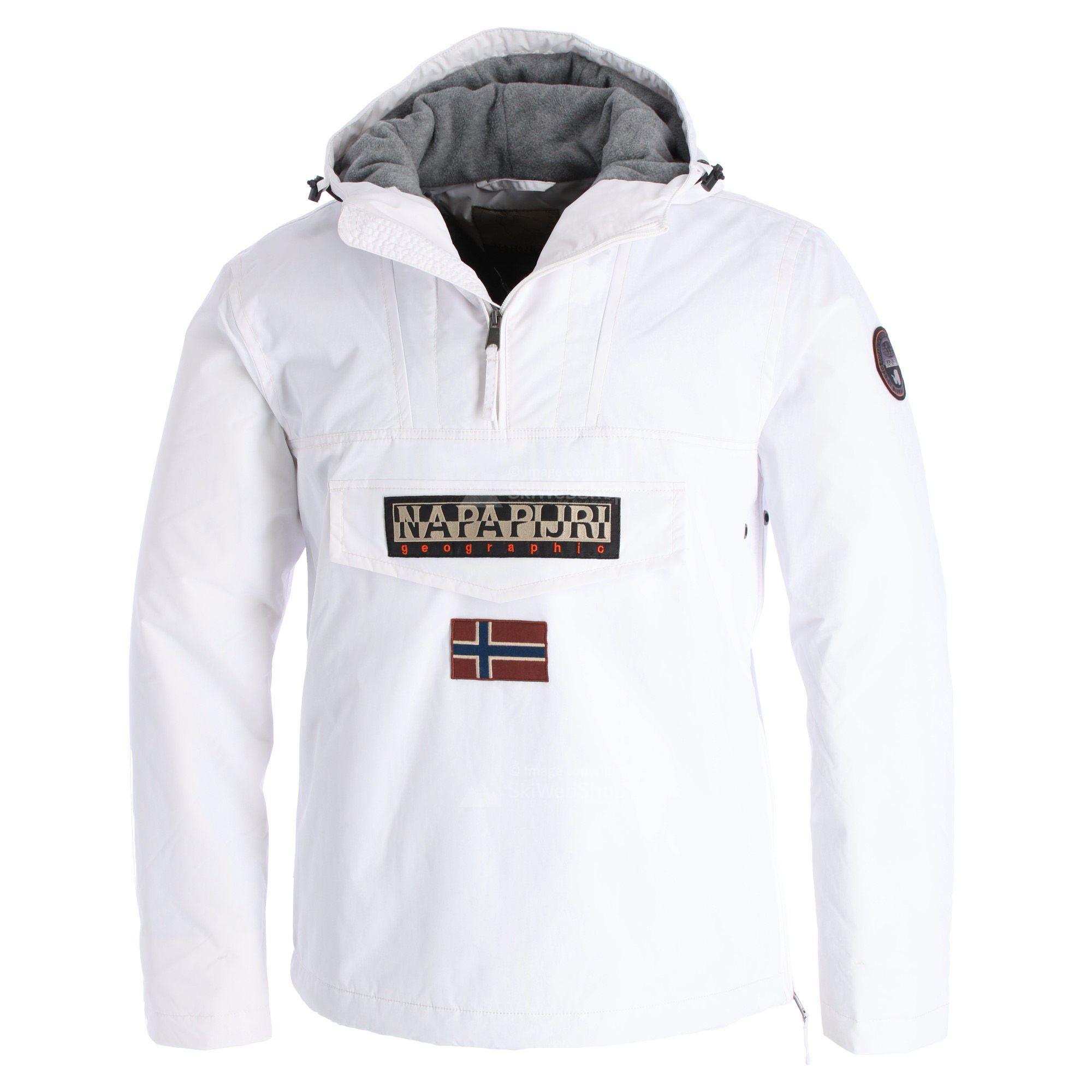 Adelaide Proporzionale Discriminazione  Napapijri, Rainforest anorak, giacca invernale, uomo, bianco ottico •  SkiWebShop