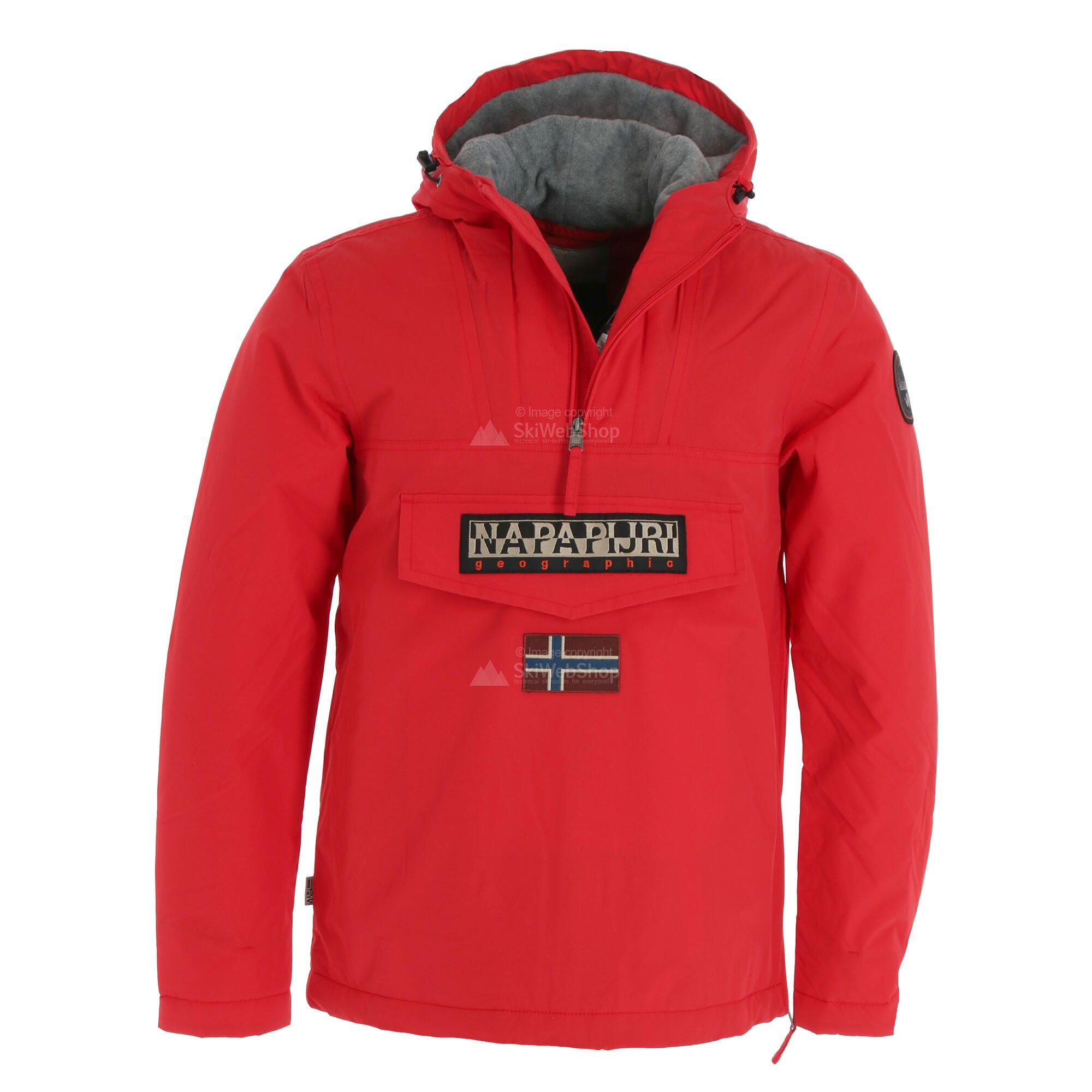 Struttura preambolo cremagliera  Napapijri, Rainforest Winter, giacca invernale, uomo, rosso • SkiWebShop