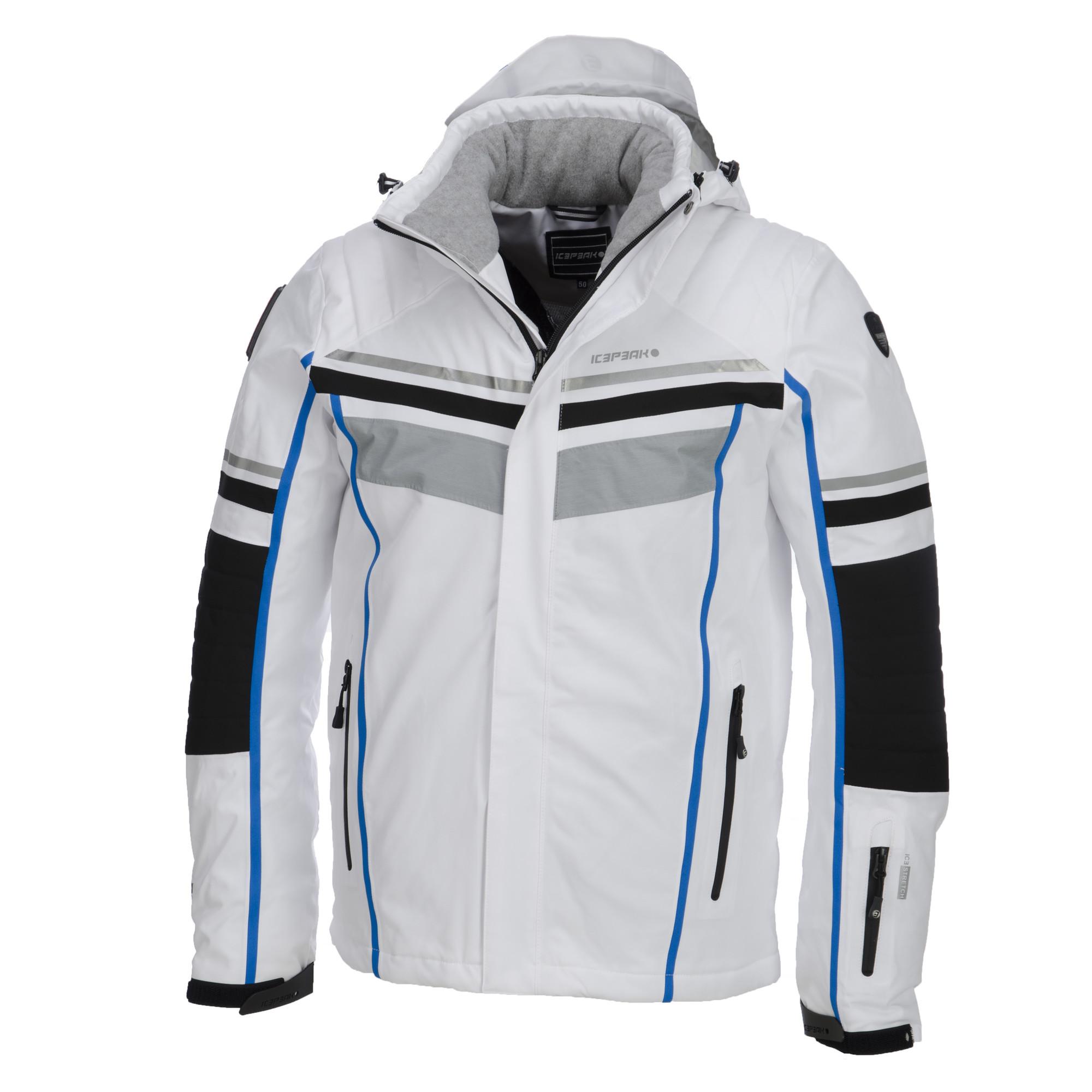 Icepeak, Nevin, Skijacket, Men, White Black Blue